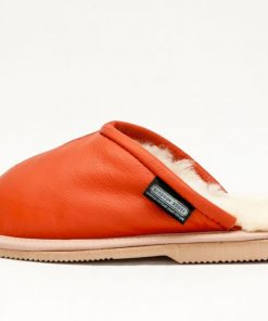 Orange/Sand leather Covered 2 piece Scuff