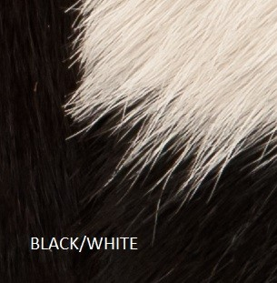 Black white cowhide