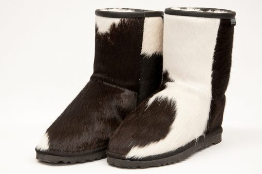 Short Black/White Cowhide P