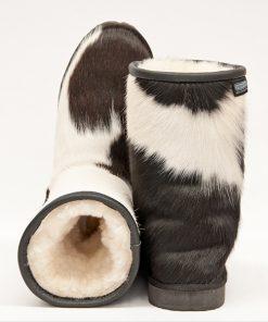Short Black/White Cowhide I