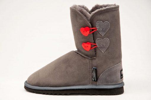 Grey Short Heart L
