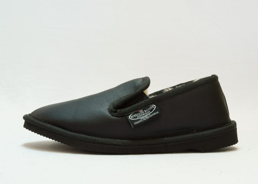 Black leather covered Loafer