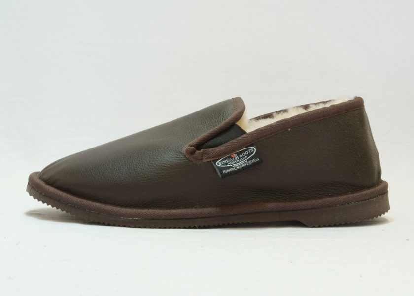 Chocolate leather covered Loafer