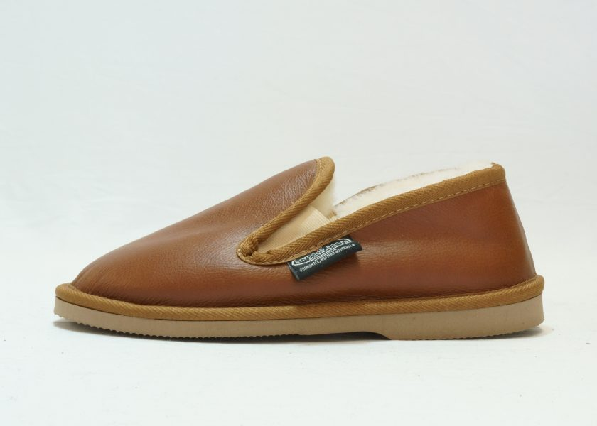 Cognac leather covered Loafer
