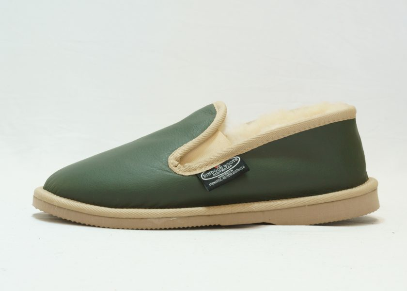 Green sand leather covered Loafer