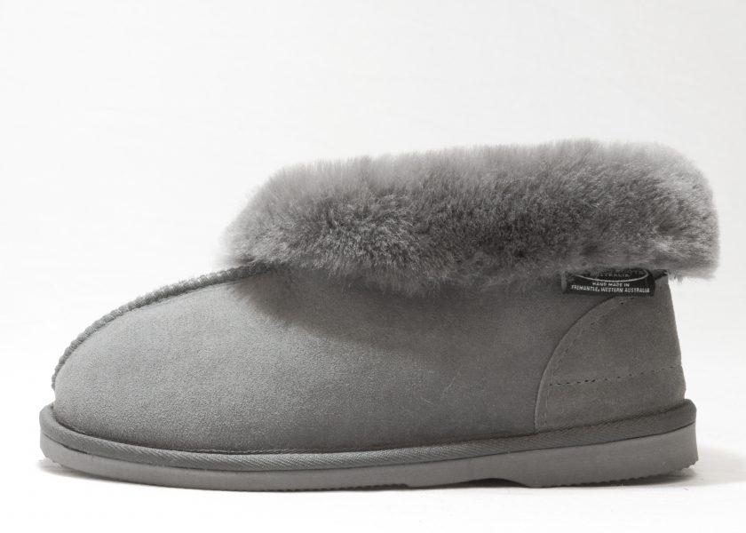 Grey Hard Sole Slipper