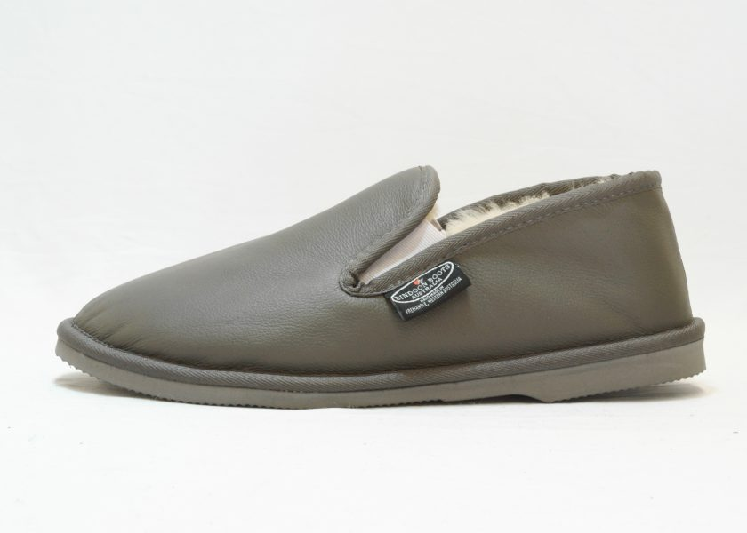 Grey leather covered Loafer