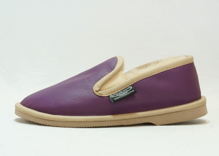 Purple sand leather covered Loafer