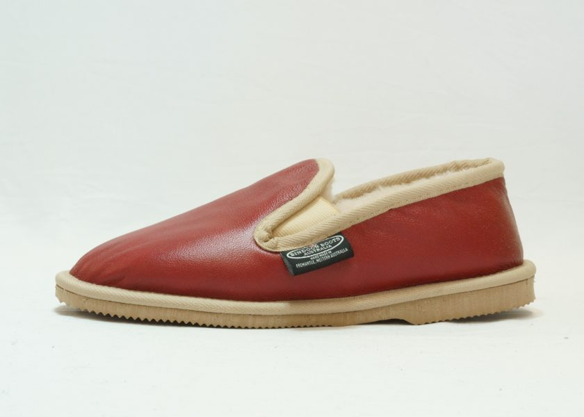 Red sand leather covered Loafer